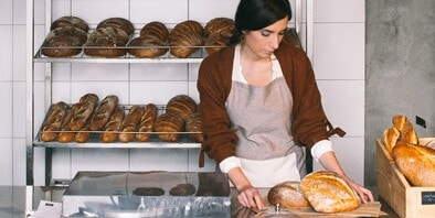 Woman in bakery